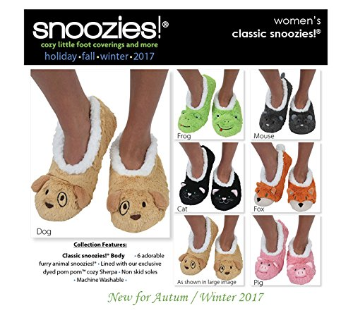 LIME Chaussons Design Super pour femme FROG Animal Snoozies Neuf Doux U80q4O