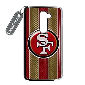 CASECOCO(TM) San Francisco 49ers LG G2 Case - Protective Hard Back / Black Rubber Sides Case for LG G2