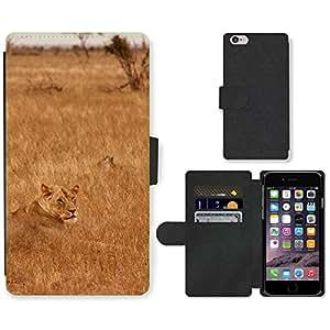 "PU LEATHER case coque housse smartphone Flip bag Cover protection // M00130463 Animal del león Familia Mamífero // Apple iPhone 6 4.7"""