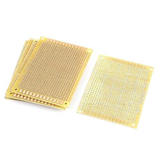 eDealMax electrnica DIY Papel Placa de pruebas de PCB Solo lado 7 cm x 9 cm 10Pcs