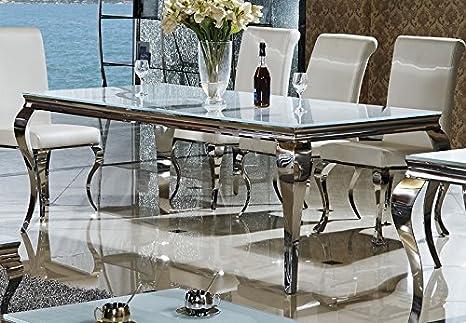 Tavolo Da Pranzo In Vetro : Wohnen luxus sala da pranzo tavolo da pranzo in vetro acciaio inox