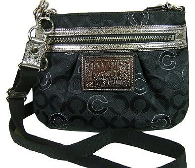 coach poppy lurex signature c op art swingpack crossbody bag handbag rh amazon co uk