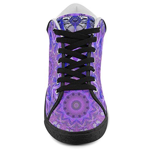 Shoes Chukka Plum Canvas Women Palace Ice For Model003 Artsadd Crystal Abstract wq06a6