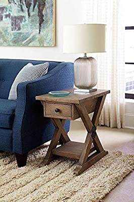 Hammary Chairside Table in Light Stain Finish