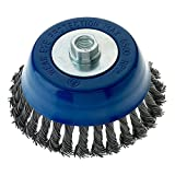 Mercer Industries 189050 Knot Cup Brush, 6'' x 5/8''-11 Heavy Duty, For Angle Grinders