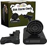 Target Alarm Clock With Gun - Infrared Target and Realistic Loud Sound Effects Fun Laser Pistol Game Clocks for Heavy Sleepers Kids Boys & Girls Infrared 0.8 MW Camouflage Black by Creatov