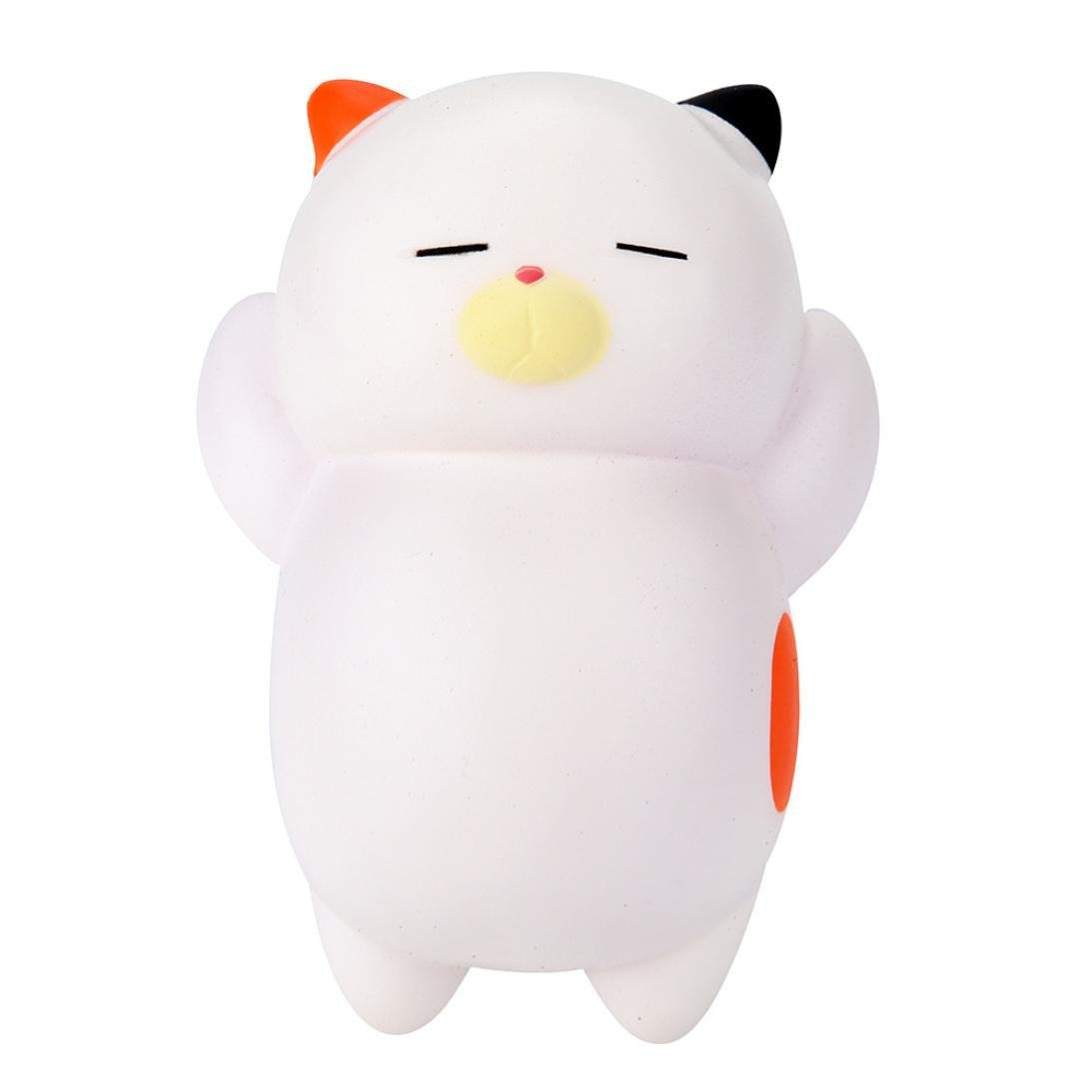 callm SquishiesSleeping Bear Novelty Squishy Toys Scented Squishies Kids Party Squishy Stress Reliever Toy (white)