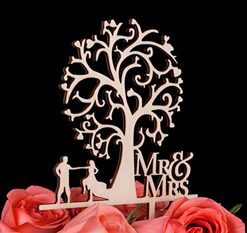 lovenjoy-gift-box-pack-mr-and-mrs-dancing-bride-and-groom-tree-silhouette-rustic-wedding-cake-topper