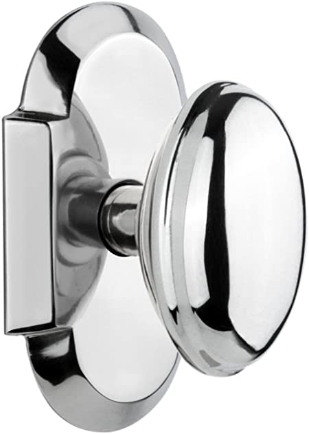 Satin Nickel 2.375 Nostalgic Warehouse Cottage Plate with Chateau Door Knob Privacy