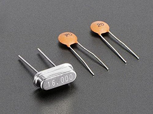 Adafruit 16 MHz Crystal + 20pF capacitors [ADA2215]