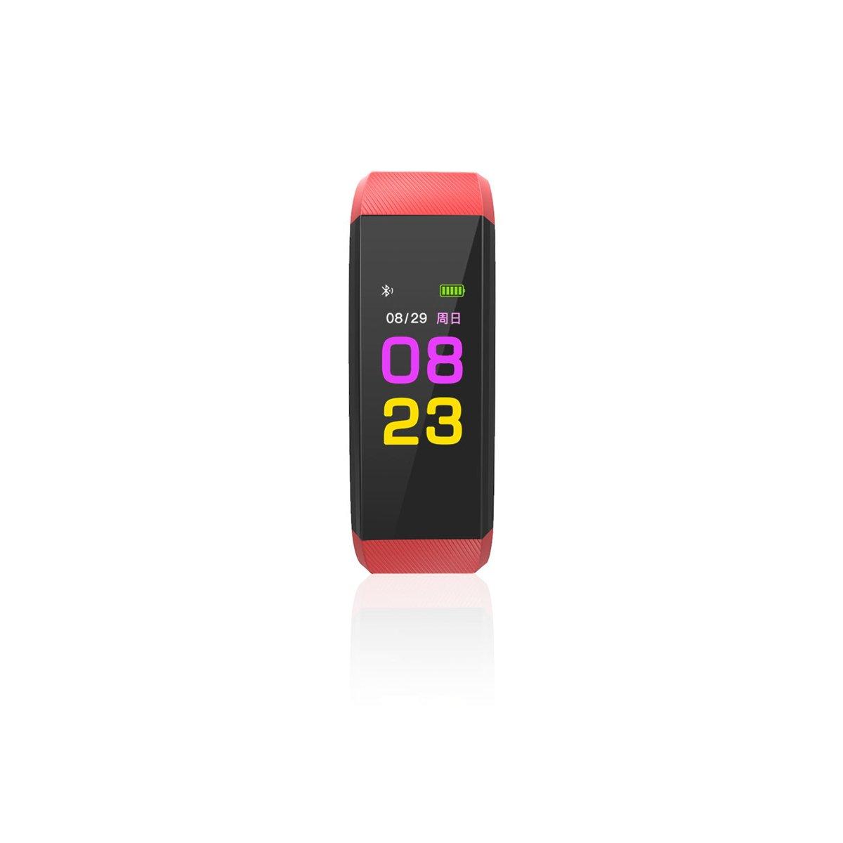SLGJYY Modelos Color Smart Sport Bluetooth Pulsera Pulso Tensiómetro de Sangre Oxígeno Resistente al Agua Podómetro Übung Pulsera, Color Rojo: Amazon.es: ...