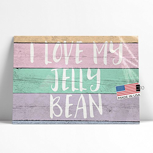 (NEONBLOND Large Poster I Love My Jelly Bean Pastel Wood Easter Printed in Atlanta)