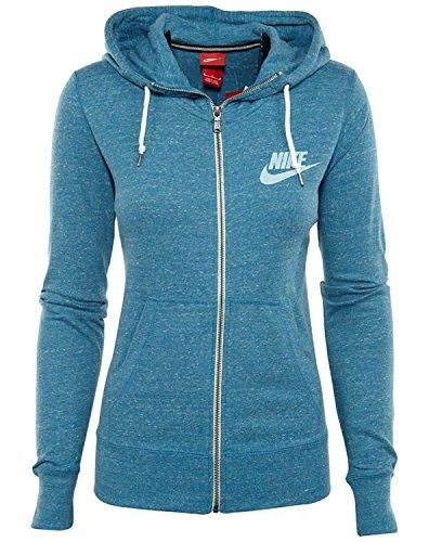 Nike Womens Gym Vintage Full Zip Hoodie Blue Large