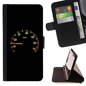 BullDog Case - FOR/Samsung Galaxy S6 EDGE / - / Speedometer /- Monedero de cuero de la PU Llevar cubierta de la caja con el ID Credit Card Slots Flip funda de cuer