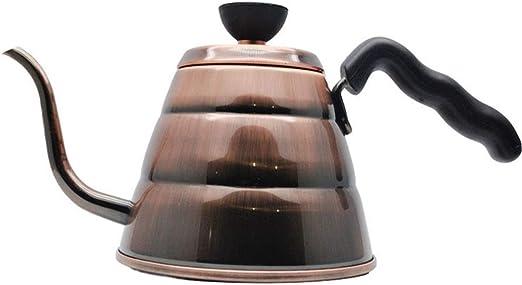 Olla de café 1L grande de acero inoxidable de Cuello de Ganso ...