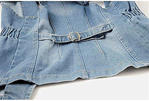 Eleganti Casuali Outerwear Smanicato Jeans Gilet Fashion Blu Glamorous Denim Autunno Jacket Baggy Semplice Primaverile Bavero Haidean Donna Vintage Cappotto H8fXZBcWZp