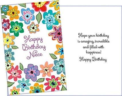 Birthday Card For Niece.Prime Greetings Happy Birthday Card Niece