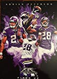 Adrian Peterson Football Card (Minnesota Vikings) 2015 Topps Fire Fired Up #FIUAP