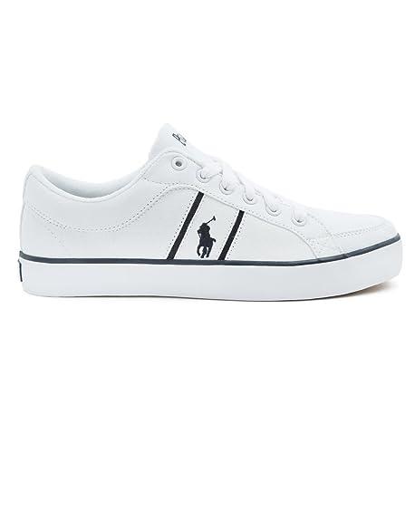 Ralph Lauren - Zapatillas de Lona para hombre blanco Bianco (bianco)