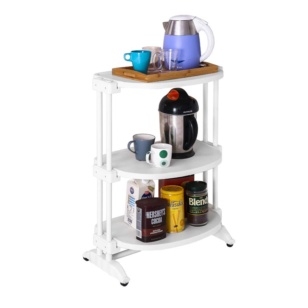 MLQ Quality Movable 3-Layer Trolley Storage Rack, Strong Bearing Capacity, High Capacity, Suitable for Kitchen, Bathroom, Bedroom, Cafe, 63.23885Cm