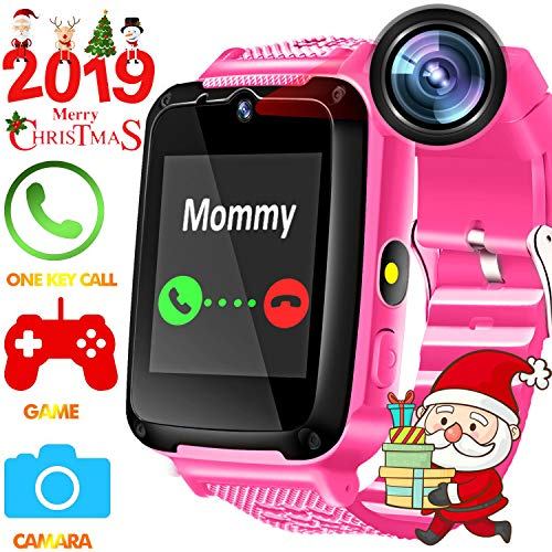 TURNMEON Kids Phone Smart Watch - Kids Watch for Boys Girls with HD Touch Screen SOS Cell Phone Camera Game Toy Wearable Kids Smartwatch Digital Wrist Watch for Holiday Birthday ()