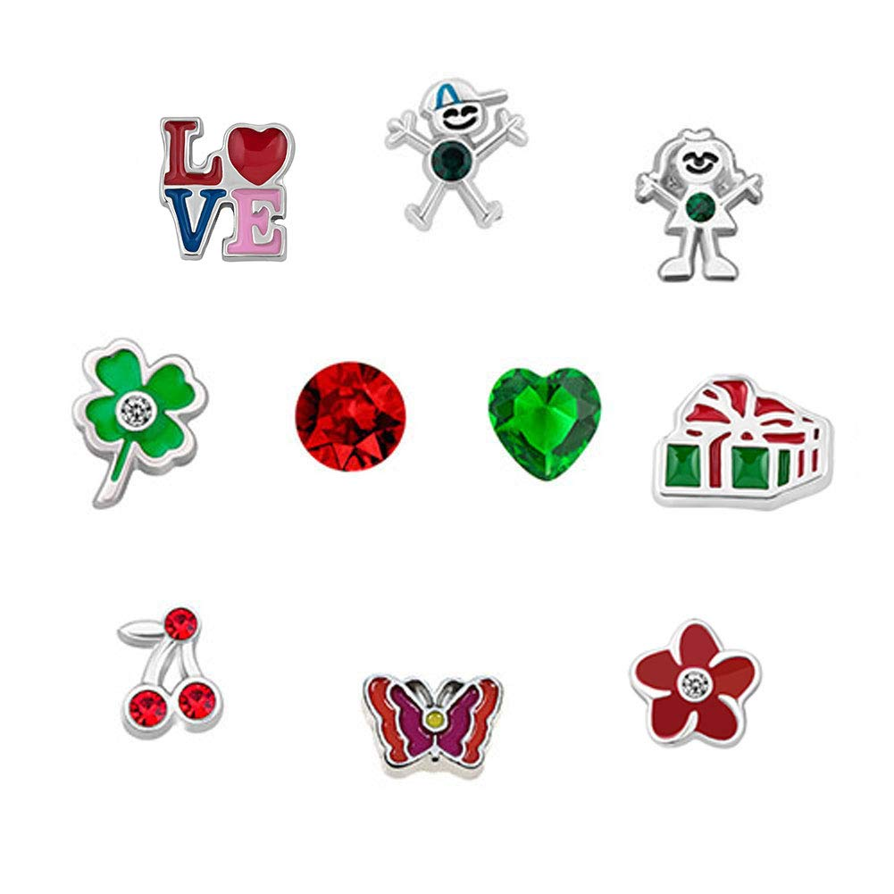2ea3c4abb932 Abalorios de Uniqueen para collares y pulseras Living Memory Lockets  floating charms UQ KSEB A90 SET61