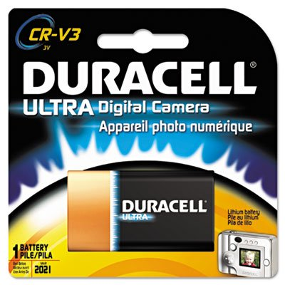 Duracell Crv3 Battery - Ultra High Power Lithium Battery, CRV3, 3V, Sold as 2 Each