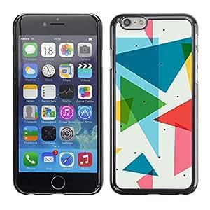 Apple (4.7 inches!!!) iPhone 6 , Radio-Star - Cáscara Funda Case Caso De Plástico (Polygon Triangle Pattern)