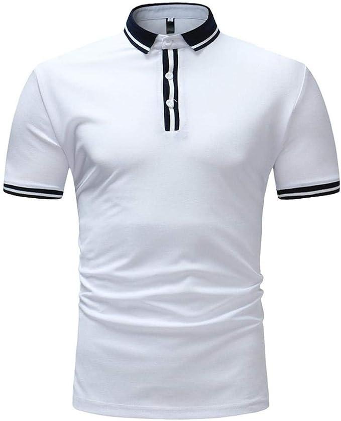Polo De Los Hombres Cuello Solid V Tops Fushiwear Camisetas De ...