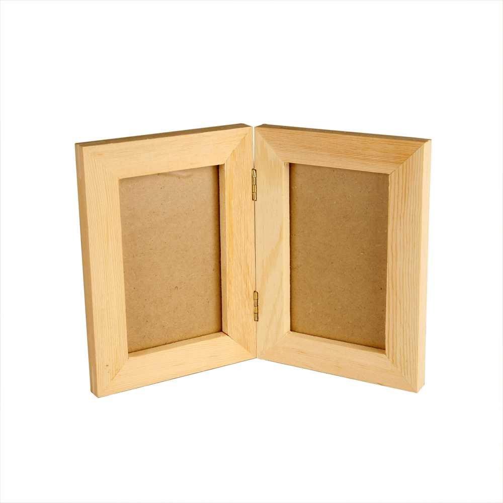 Creativ 21 x 15 cm 1-Piece Wooden Double Frame 575260