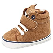 Iuhan Cotton Baby Girl Boys Fox Hight Cut Shoes Anti-slip Infant Soft Sole Sneaker (Age:0~6 Month, Khaki)