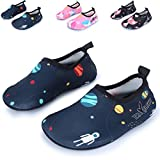 Little Kids Barefoot Quick Dry Sports Water Shoes Comfort Casual Shoes,Navy US 9.5-10 M Toddler