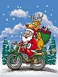 Caroline's Treasures APH8996GF Christmas Santa Claus on a Motorcycle Garden Flag, Small, Multicolor Review