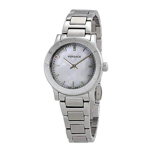 Versace Reloj Analógico para Mujer de Cuarzo con Correa en Acero Inoxidable VQA080017: Amazon.es: Relojes