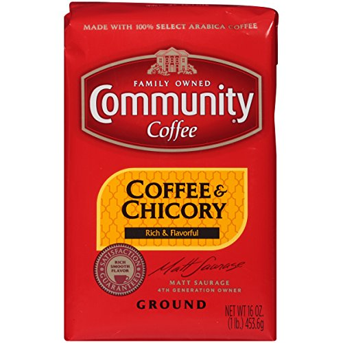 Community Coffee - Coffee & Chicory Medium Dark Roast - Premium Ground Coffee - 16 Ounce Bag