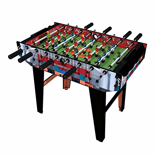 Minigols Manchester United Foosball Table with 11 Man United Figures and 11 Real Madrid Figures (United Giggs Ryan Manchester)