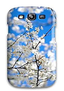 For Galaxy Case, High Quality Blossoms And Blue Tree Plum Arms Season Life Beginning Flowers Nature Spring For Galaxy S3 Cover Cases