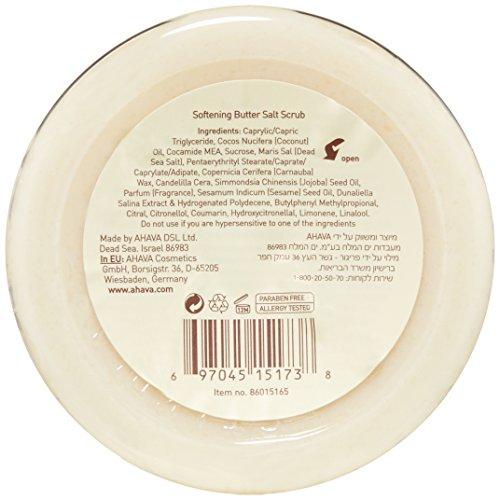 41eVGh2YDaL AHAVA Softening Butter Salt Scrub, 7.5 Ounce