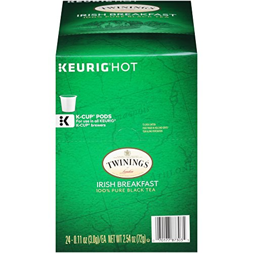 Black Tea Tea Irish (Twinings of London Irish Breakfast Tea K-Cups for Keurig, 24 Count)