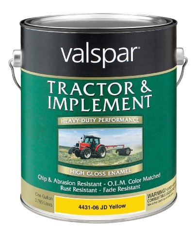 Valspar 4431-06 JD Yellow Tractor and Implement Paint - 1 Gallon