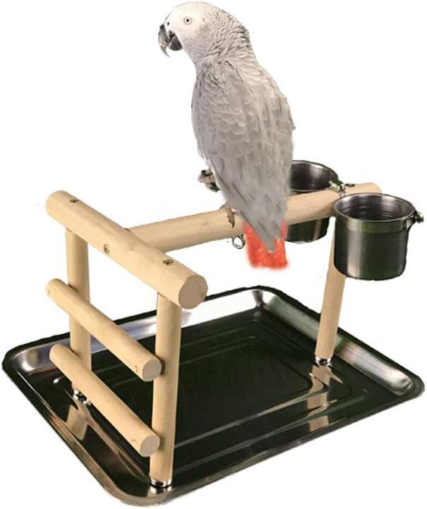 NanXi Oficina de Apoyo Xuanfeng Piel del Tigre del Loro Formación Asistencia técnica interactiva Varilla de Madera Maciza de Alimentos para Mascotas Jaula de pájaros Bird Perch,Big