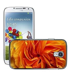 Etui Housse Coque de Protection Cover Rigide pour // M00150500 Orange pétalos de la flor Macro Close // Samsung Galaxy S4 S IV SIV i9500