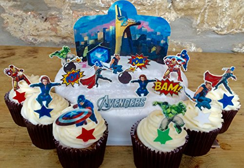 Cakeshop PRE-CUT Avengers Edible Cake Scene - 28 pieces