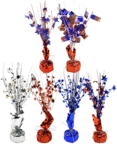 Set of 6 Patriotic Center Pieces! 12