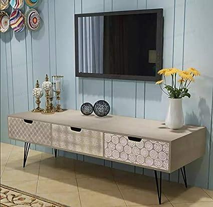 Mobile TV Moderno per Soggiorno - Oakome vidaXL Comodino Porta TV da ...