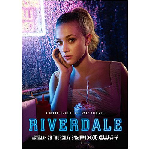 """Riverdale Lili Reinhart as Betty Cooper Seated with Shake """"A Great Place to Get Away with All"""" 8 x 10 Inch Photo"""