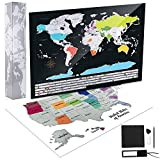 Kustares Scratch Off Map of The World - Premium