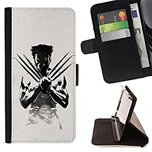 For Samsung Galaxy S6 EDGE X Claw Superhero Style PU Leather Case Wallet Flip Stand Flap Closure Cover
