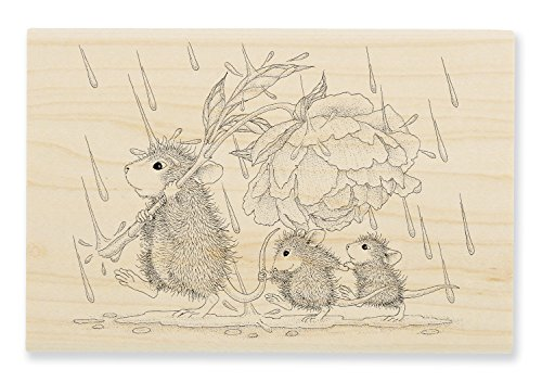 STAMPENDOUS House Mouse Wood Stamp, Peony -