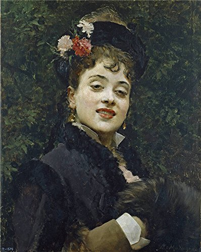 ('Madrazo Y Garreta Raimundo De The Model Aline Masson Ca. 1876 ' Oil Painting, 16 X 20 Inch / 41 X 51 Cm ,printed On Perfect Effect Canvas ,this Imitations Art DecorativeCanvas Prints Is Perfectly Suitalbe For Hallway Gallery Art And Home Decoration And Gifts)